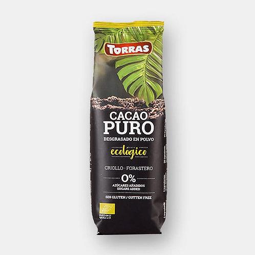 Cacao Puro Desgrasado en Polvo Bio 150g Torras