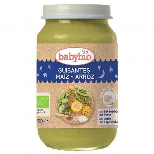 Tarrito Guisantes, maiz y arroz BUENAS NOCHES - BABYBIO - 200g