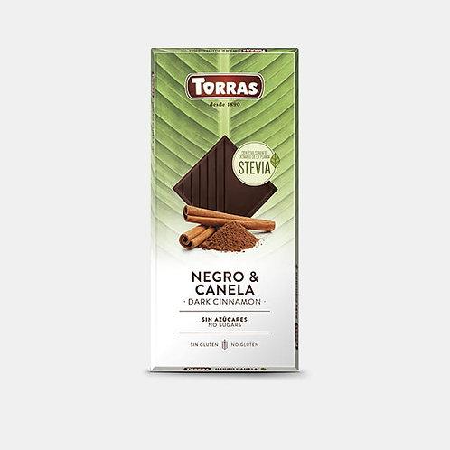 Chocolate stevia negro con canela 125g torras