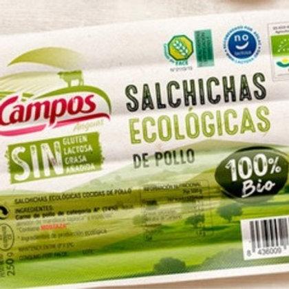 Salchichas de Pollo Ecológicas 250g Campos