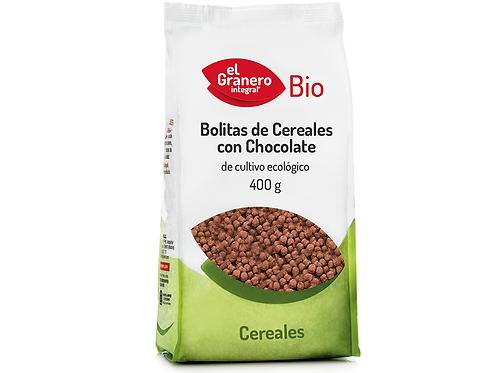 Bolitas de Cereales con Chocolate 400g El Granero Integral
