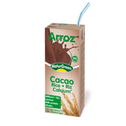 Arroz - Cacao Calcium Bio - NaturGreen - 200 ml