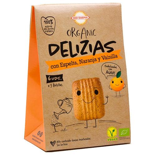 Delizias con Espelta Naranja y Vainilla 45g Bio-Darma