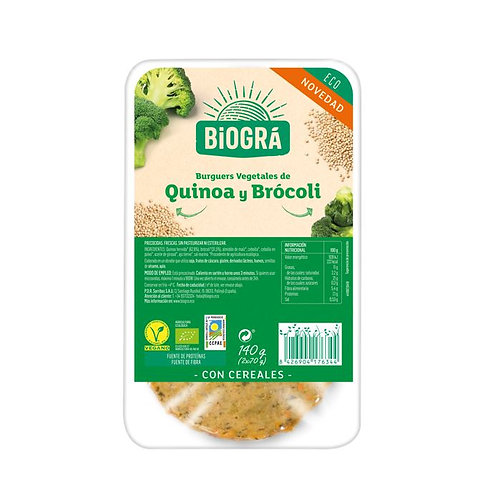Burguer de Quinoa y Brócoli 140g Biográ