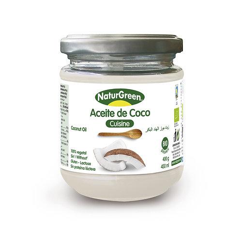 Aceite de coco virgen Bio Cuisine - Naturgreen - 430 ml