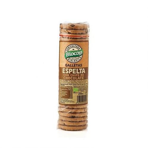 Galletas de Espelta con Chips de Chocolate - Biocop - 250 g
