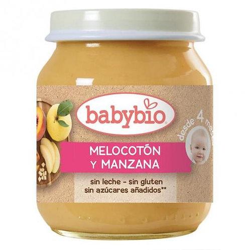 Tarrito Melocotón y Manzana - Babybio - 130 g