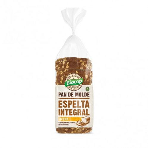 Pan molde Espelta Integral copos Avena 400g Biocop