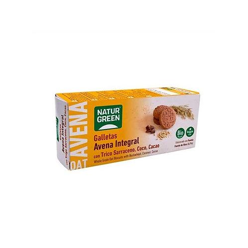 Galletas de Avena Integral con Trigo Sarraceno Coco y Cacao
