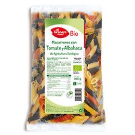 Macarrones con Tomate y Albahaca 500g El Granero Integral