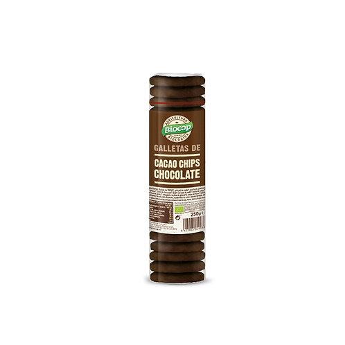 Galletas Cacao con Chips de Chocolate 250g Biocop