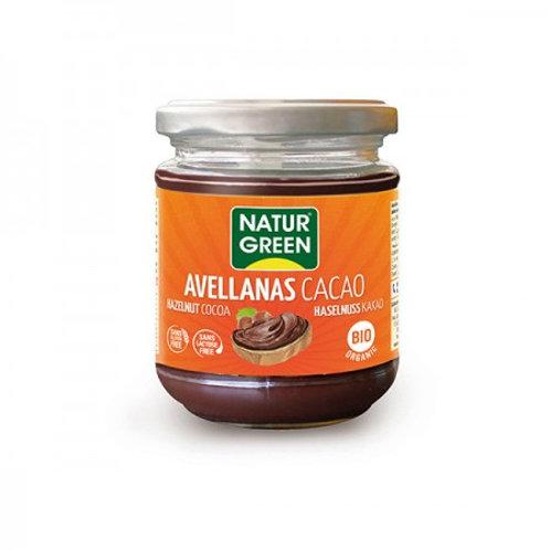 Crema Ecológica De Avellanas Y Cacao - NaturGreen - 200 G.