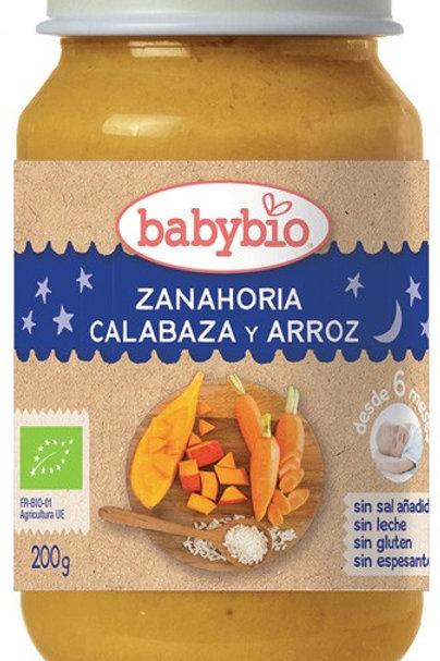 Tarrito ecológico buenas noches zanahoria calabaza arroz 200g Babybio