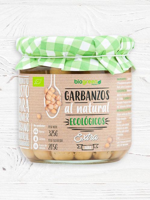 Garbanzos al Natural cocidos 350ml Biogreen