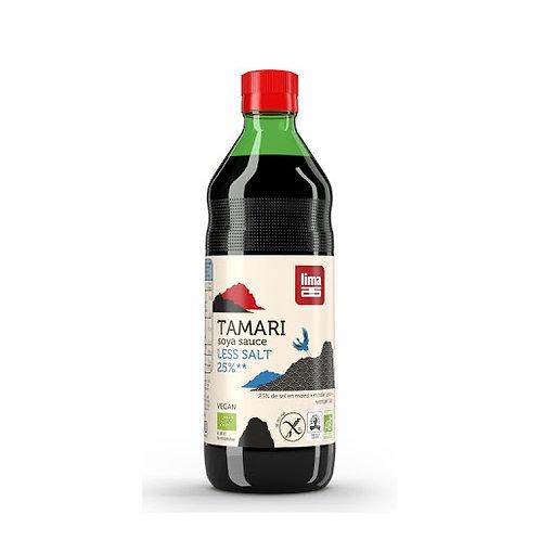Salsa Tamari 25%reducida en sal 250ml. Lima