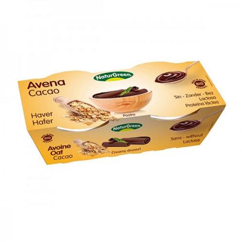 Postre Avena Cacao 2x125 g NaturGreen