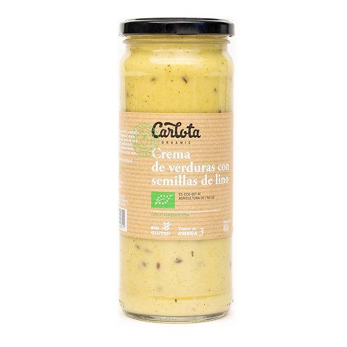 Crema de Verduras con semillas de Lino 450g Carlota