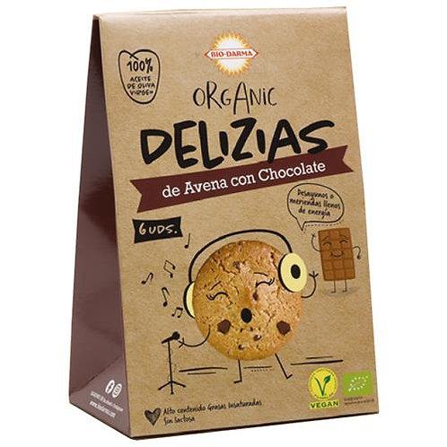 Mini Deliziasde Avena con Chocolate 45g Bio-Darma