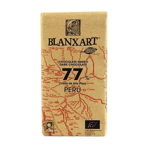 Tableta chocolate negro 77% Perú 125g Blanxart