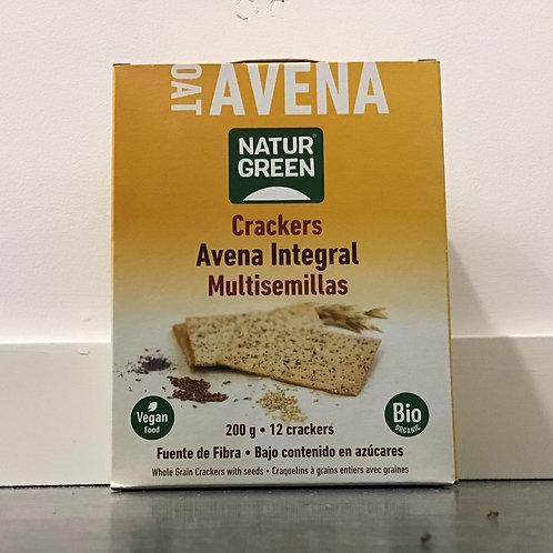 Crackers Avena integral Multisemillas 200g Naturgreen