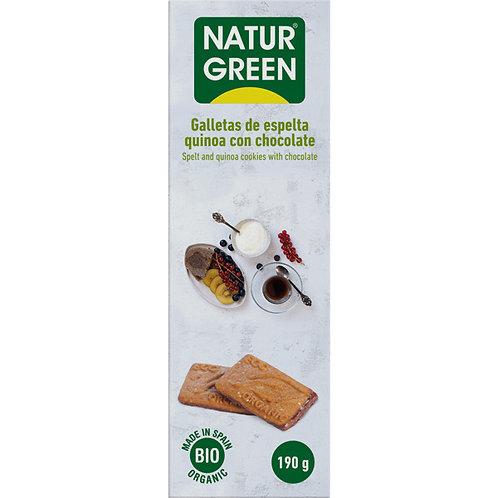 Ecogalleta espelta quinoa chocolate Naturgreen