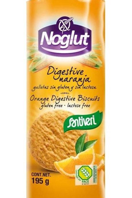 Galletas digestive naranja - Santiveri - 195g