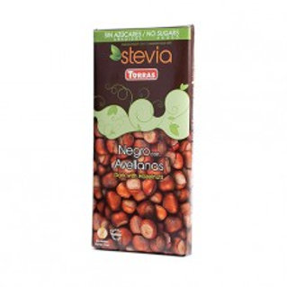 Chocolate Stevia negro con avellanas - Torras - 125g
