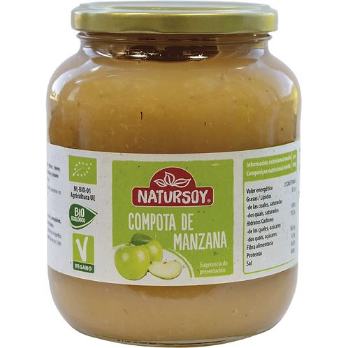 Compota de manzana bio 700g natursoy