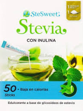 Stevia con inulina 50sticks  SteSweet