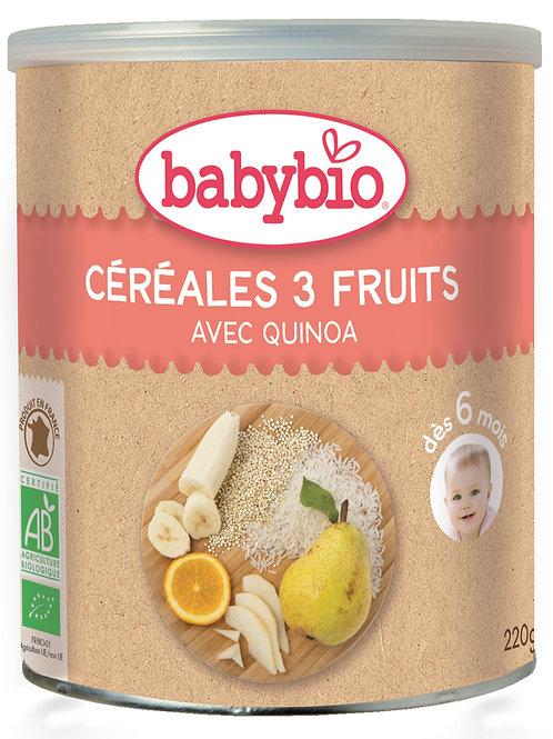 Babybio Cereales 3 frutas Bio 220g