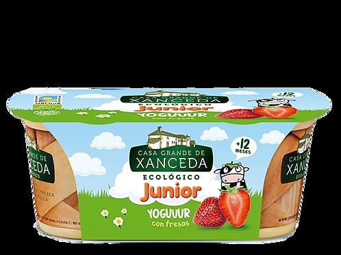 Yogur con Fresas Junior 2x125g Xanceda
