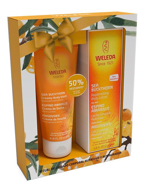 Pack especial crema corporal + crema de ducha espino amarillo