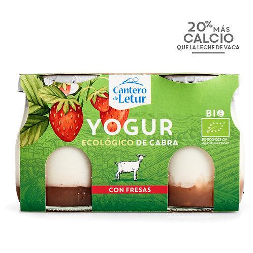 Yogur Cabra con Fresas 2x125g Cantero de Letur