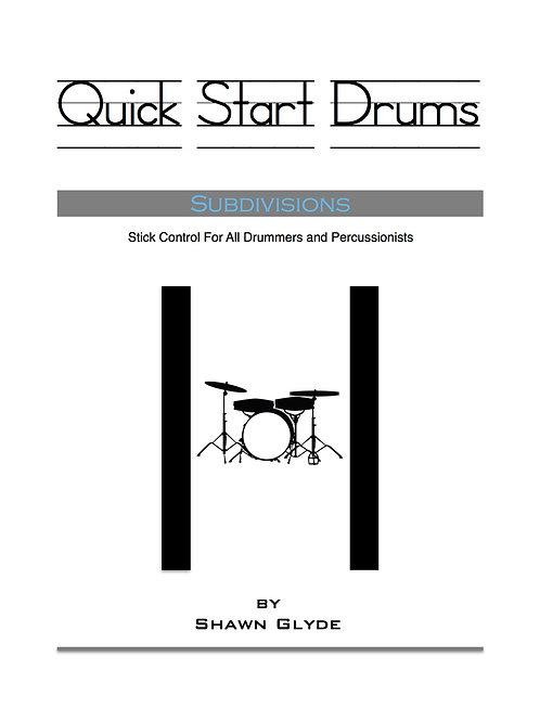 QUICK START DRUMS - Subdivisions