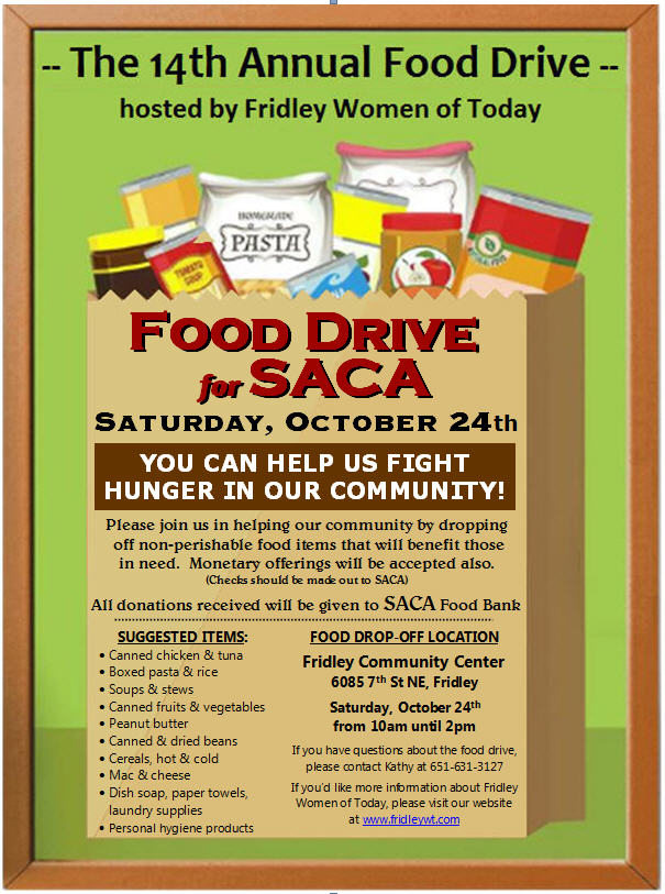 2020 Food Drive Flyer2