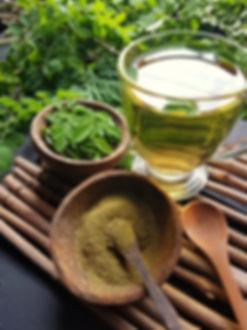 Moringa oleifera tea . healthy drinks.jp