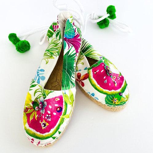 Pink Watermelon Slip-On Sandals