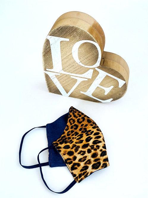 Leopard Print Reversible Face Mask