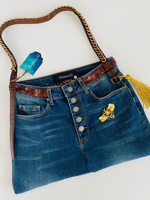 ButtonUp Denim Handbag