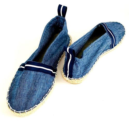 Blue Denim Slip-On Espadrilles