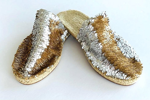 Two Tone Sequin Sandals