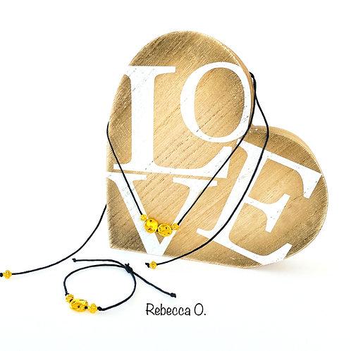 Rustic Gold Necklace & Bracelet  Set