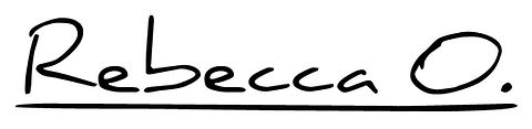 Rebcca O new logo