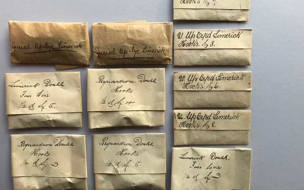 Full Packets of Hooks bearing Kelson's handwriting - Rare Doubles and Single Eyed
