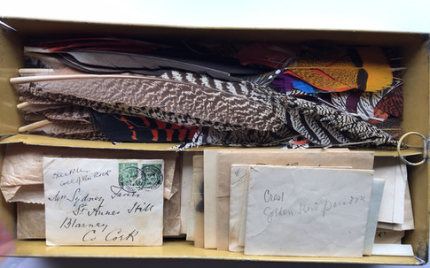 Some of the many envelopes removed prior to the two attempted Mullocks sales