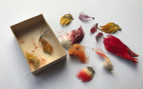 Interesting Feather mini Patches gathered in non original box for convenience