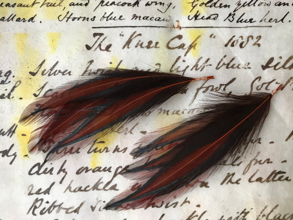The Only known examples of the Kneecap Hackle - with pattern