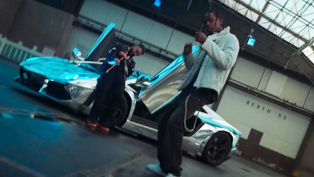 c457788b75e TRAVIS SCOTT STUNTS NEXT TO A CHROME LAMBO IN NEW VIDEO