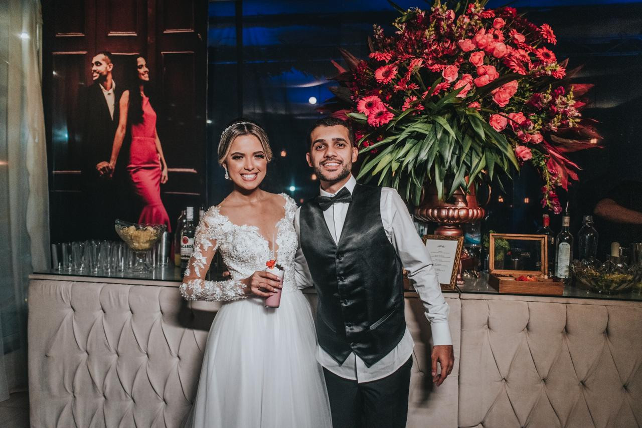 Casamento azul marinho e rosê gold - Open Bar