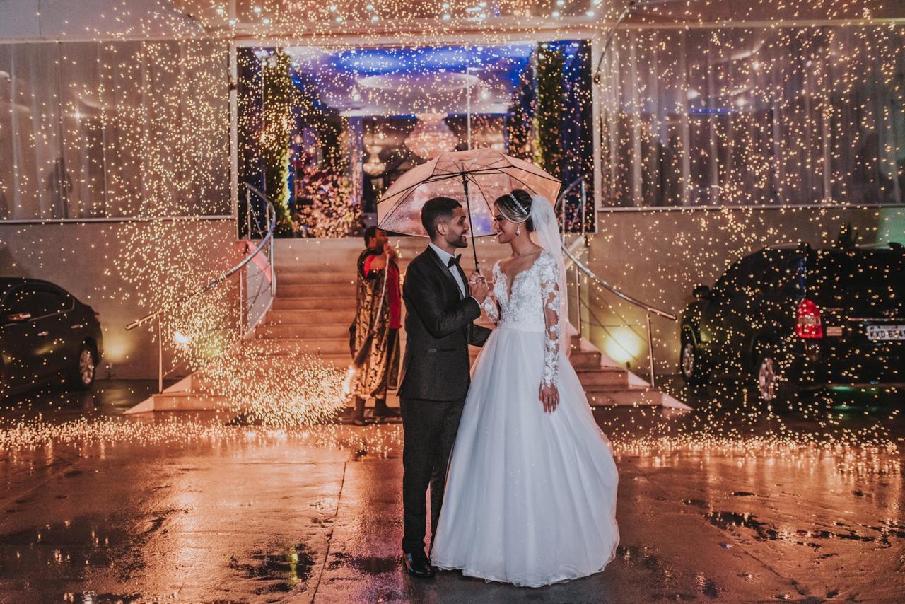 Casamento azul marinho e rosê gold